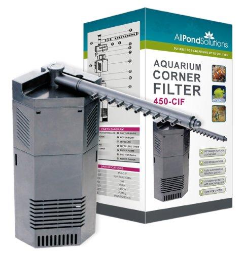 450l h aquarium internal fish tank corner filter pump all for Internal pond filter