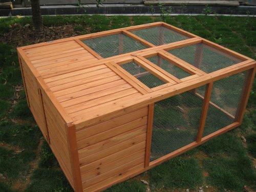 Wood Car Shelter Folded : Bunny business fully folding sheltered rabbit run hutch