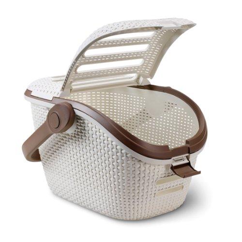 Curver cat dog pet carrier transporter basket petlife collection