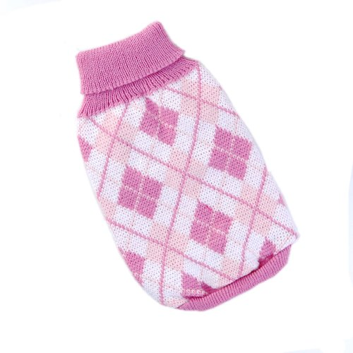 Dog Turtleneck Knitting Pattern : Knit Turtleneck Dog Sweater Clothing Argyle Patterns Pink ...