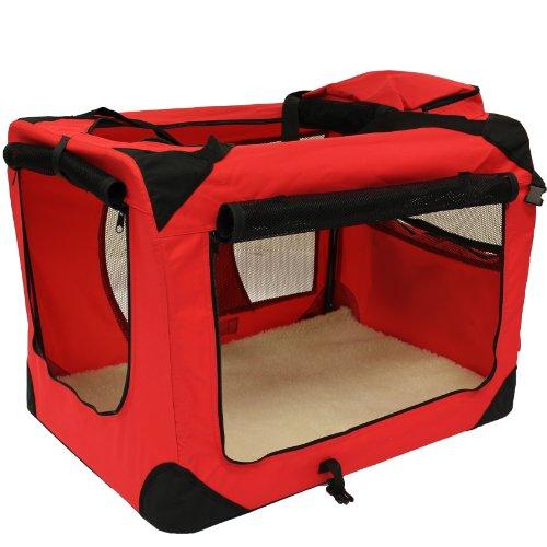 Mool Lightweight Fabric Pet Carrier Crate With Fleece Mat