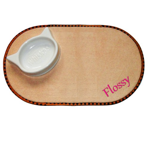 Personalised Embroidered Microfibre Pet Bowl Mat Place