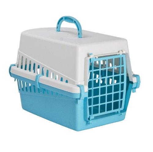 Trasportino Plastic Pet Carrier Light Blue Pets Lovers